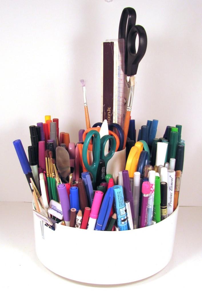 Creative scissor storage solutions judy nolan for Creative silverware storage