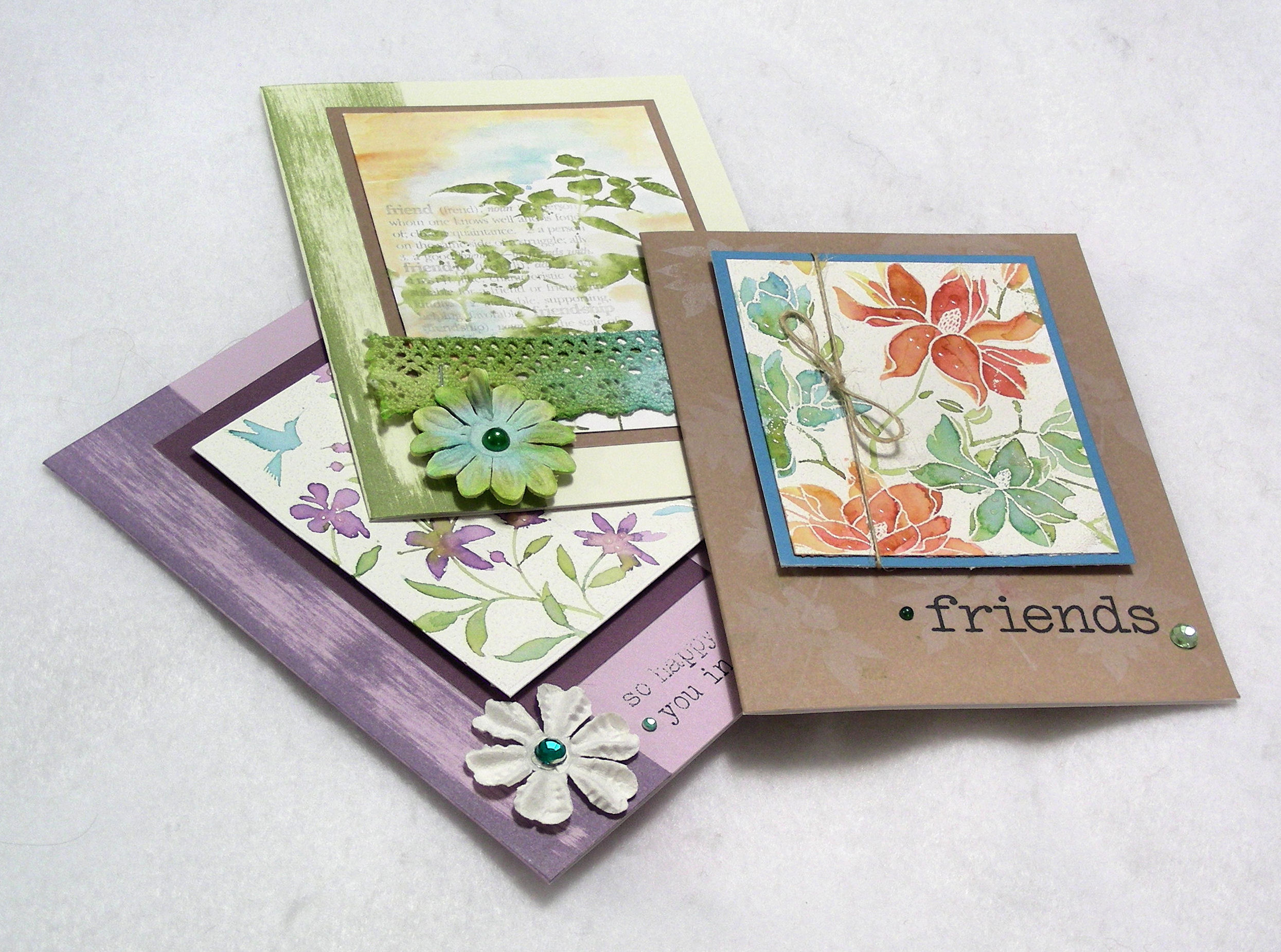 How to store scrapbook paper - I Learned How To Use Different Kinds Of Inks And Inking Techniques While Making These Cards At A Local Scrapbooking Store