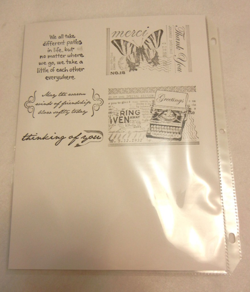 This is the back side of a typical page, on which the images are stamped.