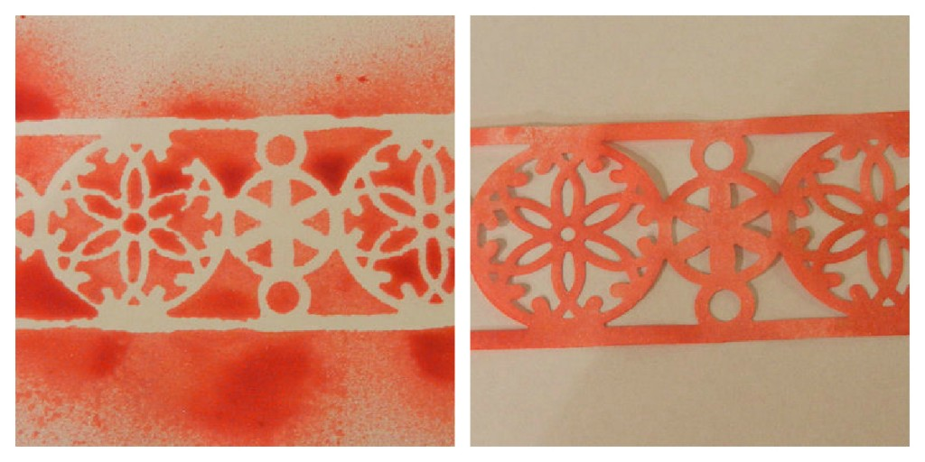 Using as a stencil