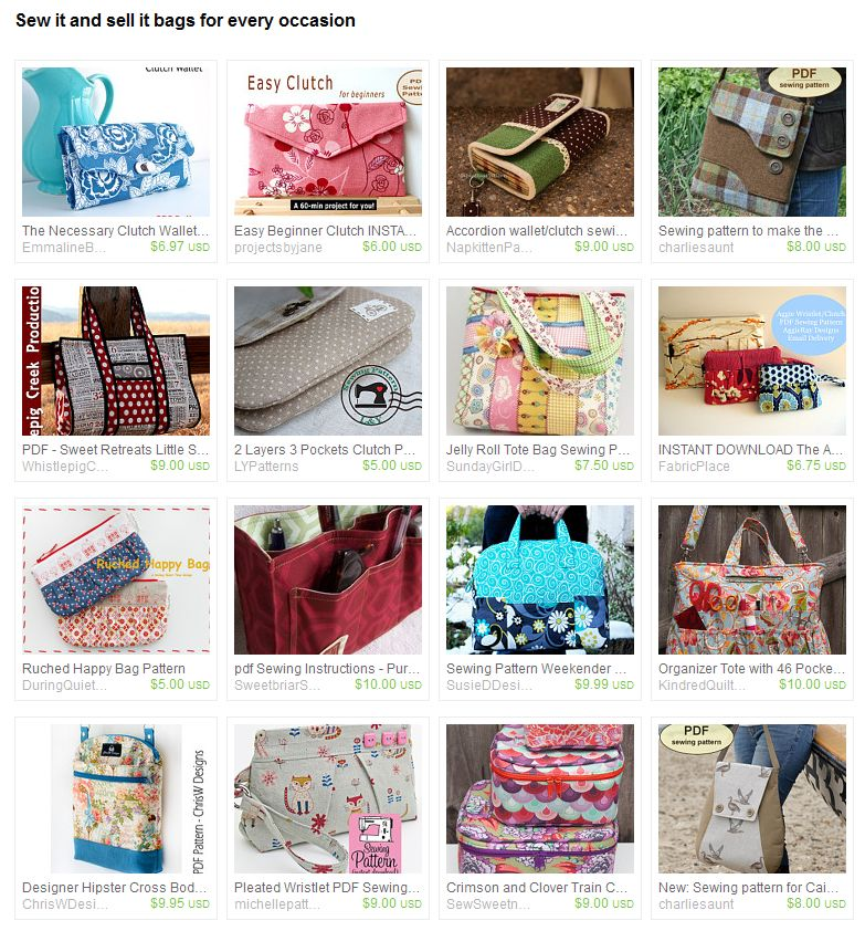 Sew it and sell it bags for every occasion