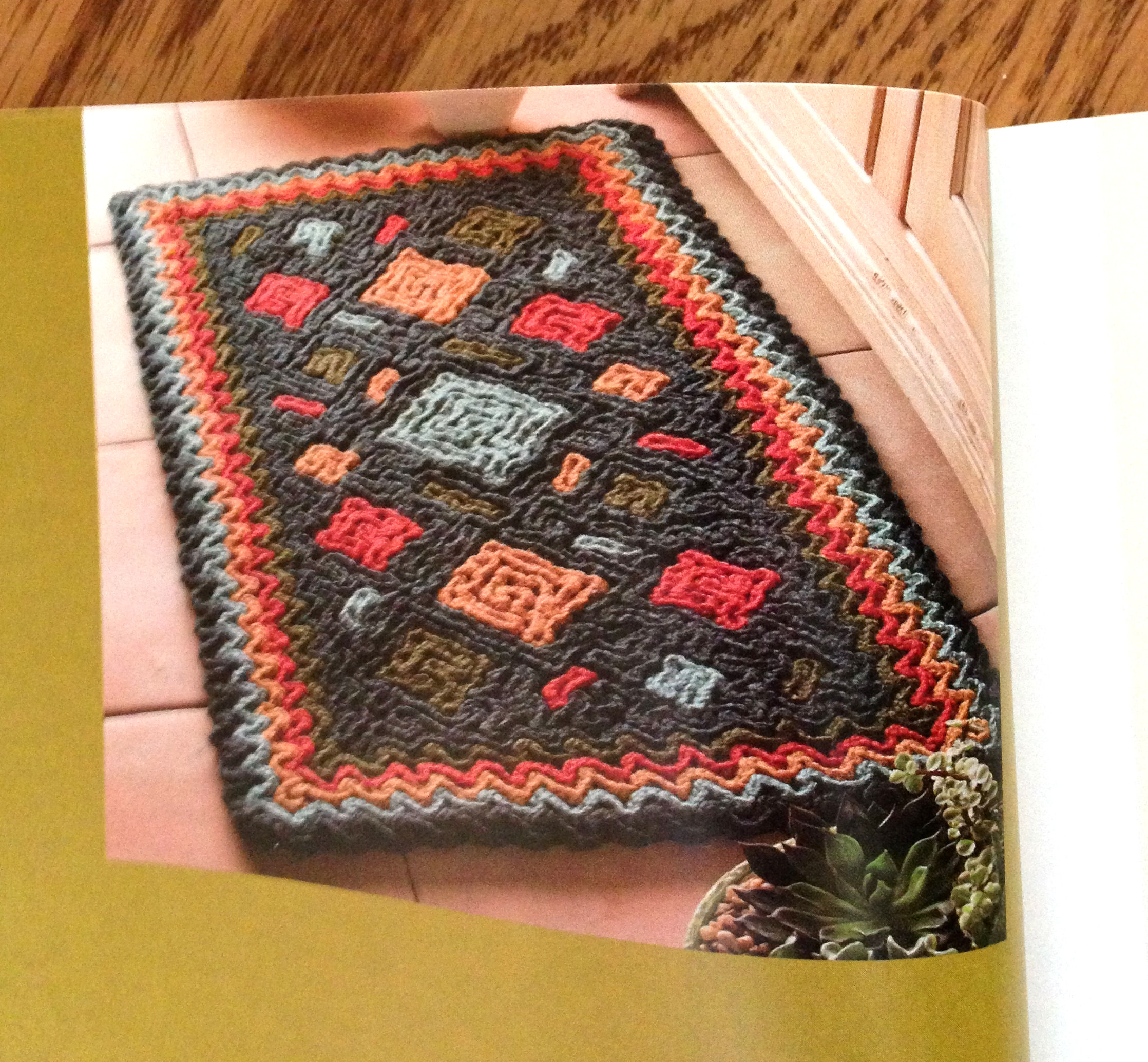 Crocheting Rugs Book : diagonal crochet wiggly crochet irish crochet knit look crochet ...