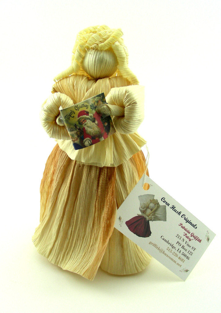 One of the sellers I like to visit each year is Patricia Griffith of Cambridge, Iowa, who designs original corn husk dolls.