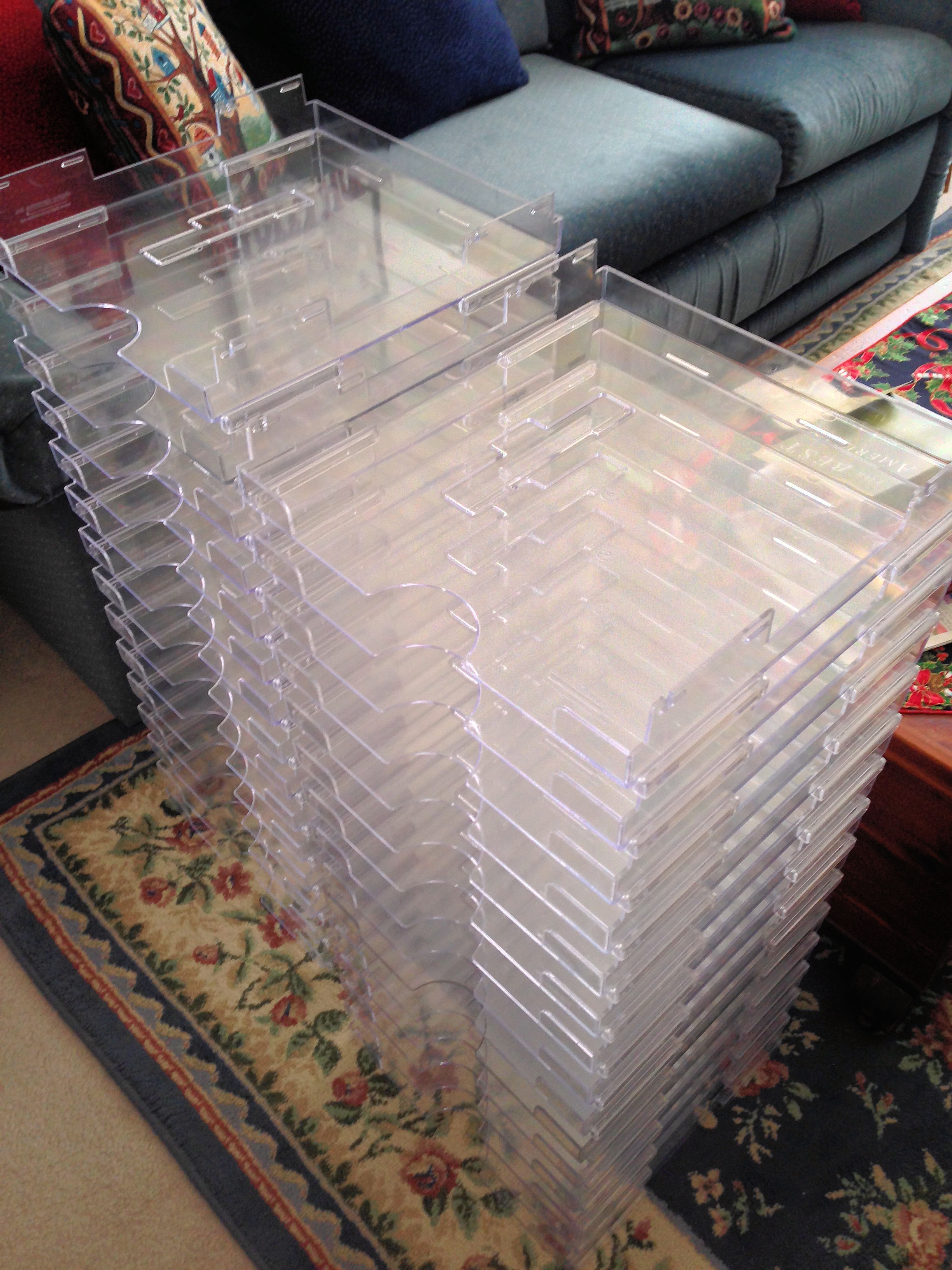 Scrapbook paper display - Paper Trays