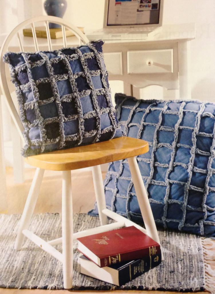 Frayed Denim Pillows