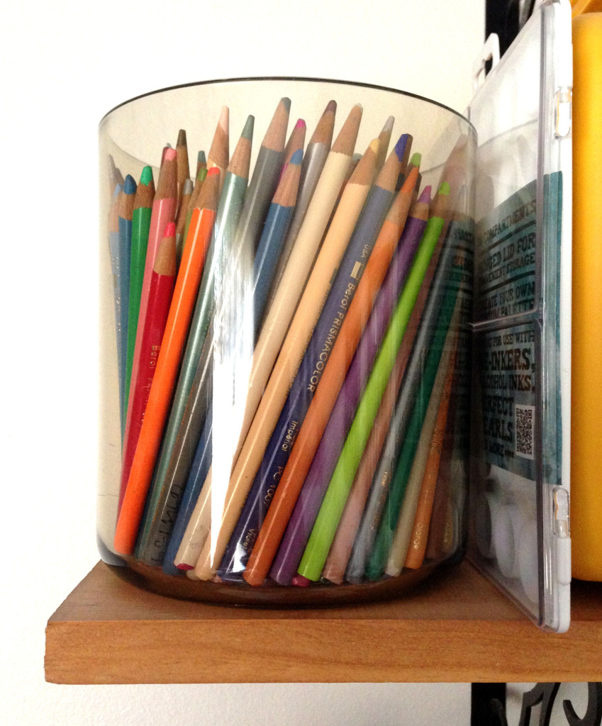 Colored pencils storage