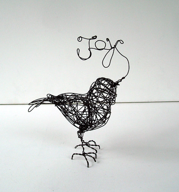 Wire Bird Sculpture by Wire Animals