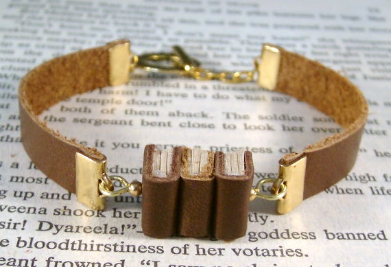 Miniature Book Bracelet by JanDa Jewelry