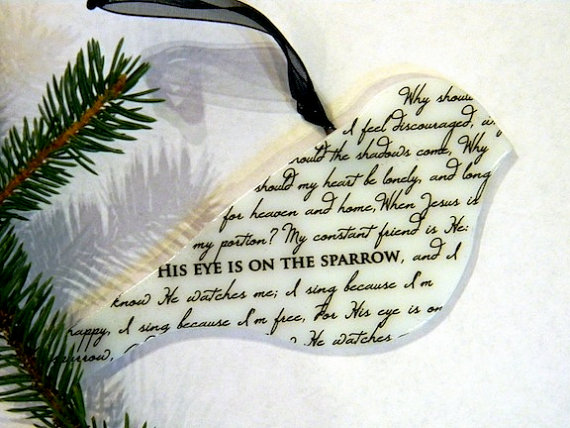 Fused Glass Sparrow Ornament by Mountin Designs