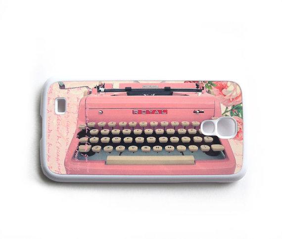 Vintage Pink Typewriter Galaxy S4 Case by Sassy Cases