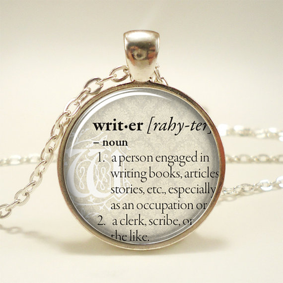 Personalized Dictionary Word Necklace by Rainnua Art Pendant Shop