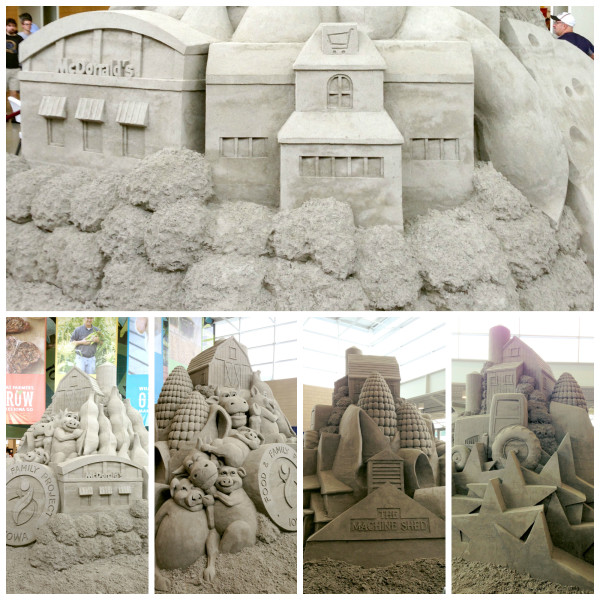 Sand Sculpture Collage
