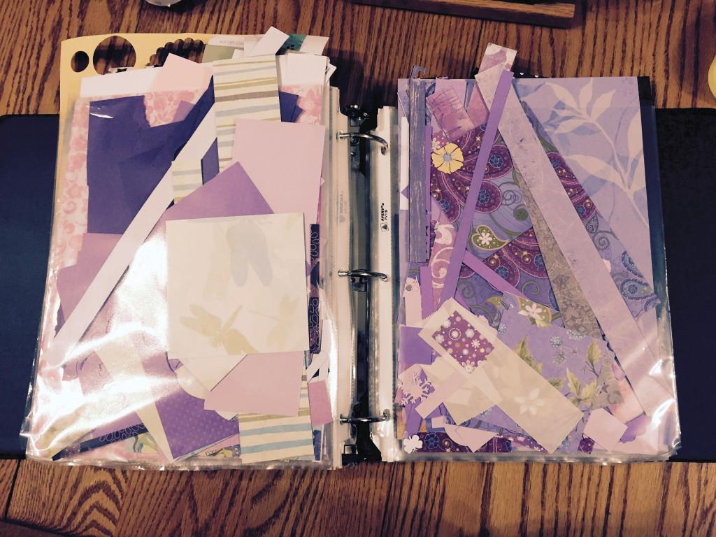 Scrap paper binder