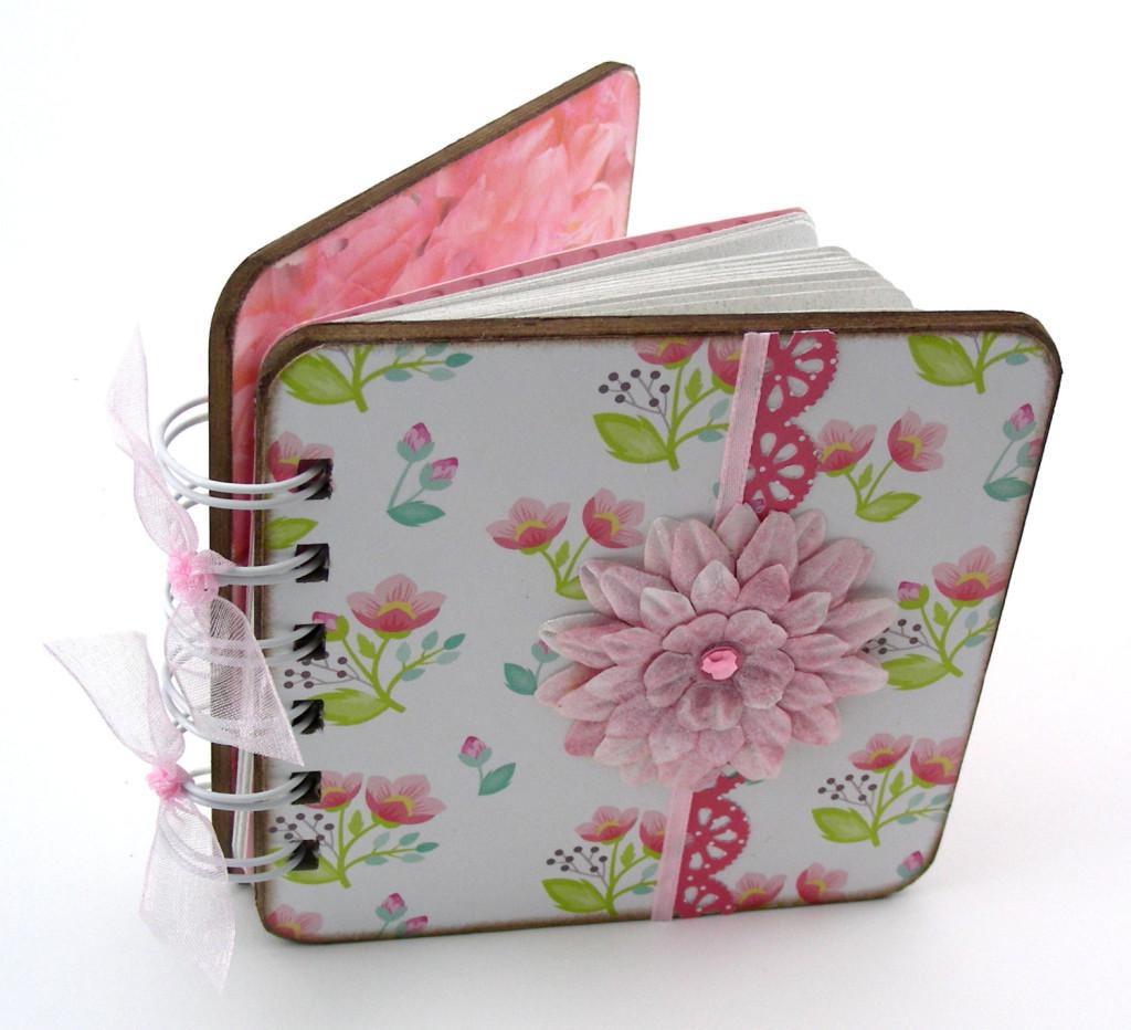 Sweet Petunias Mini Blank Book