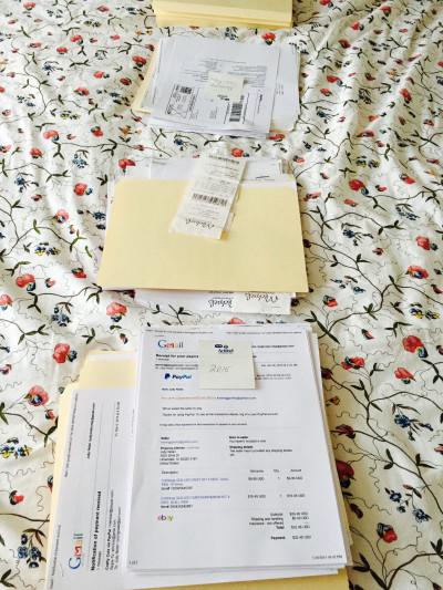 Bedspread file sorting system