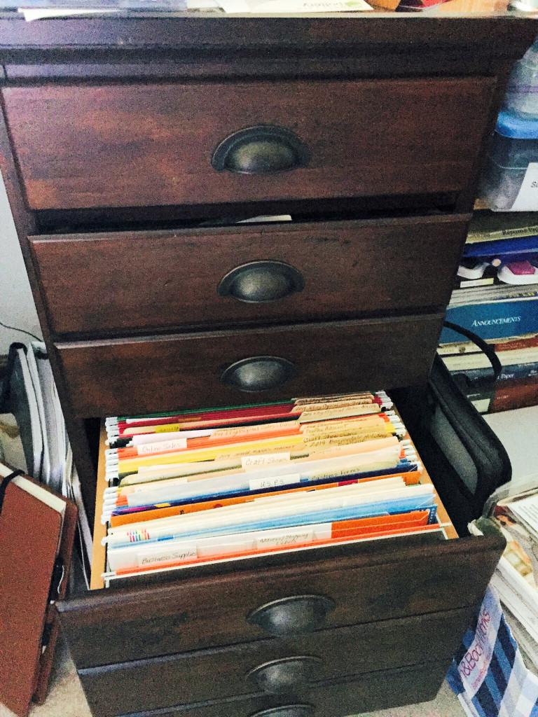 Impractical bottom file folder drawer