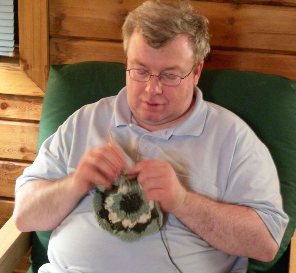 John crochets at Backbone State Park 2008