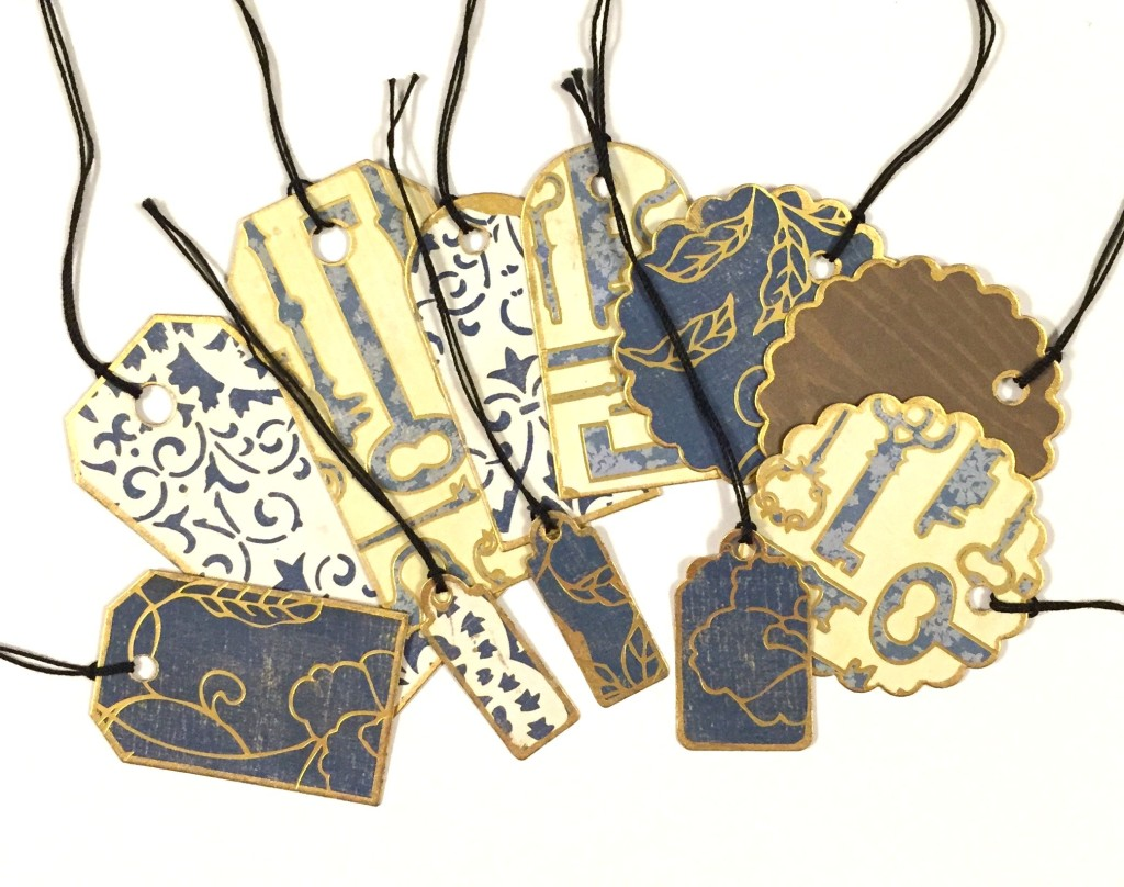 Tags Made from Leftover Paper Scraps