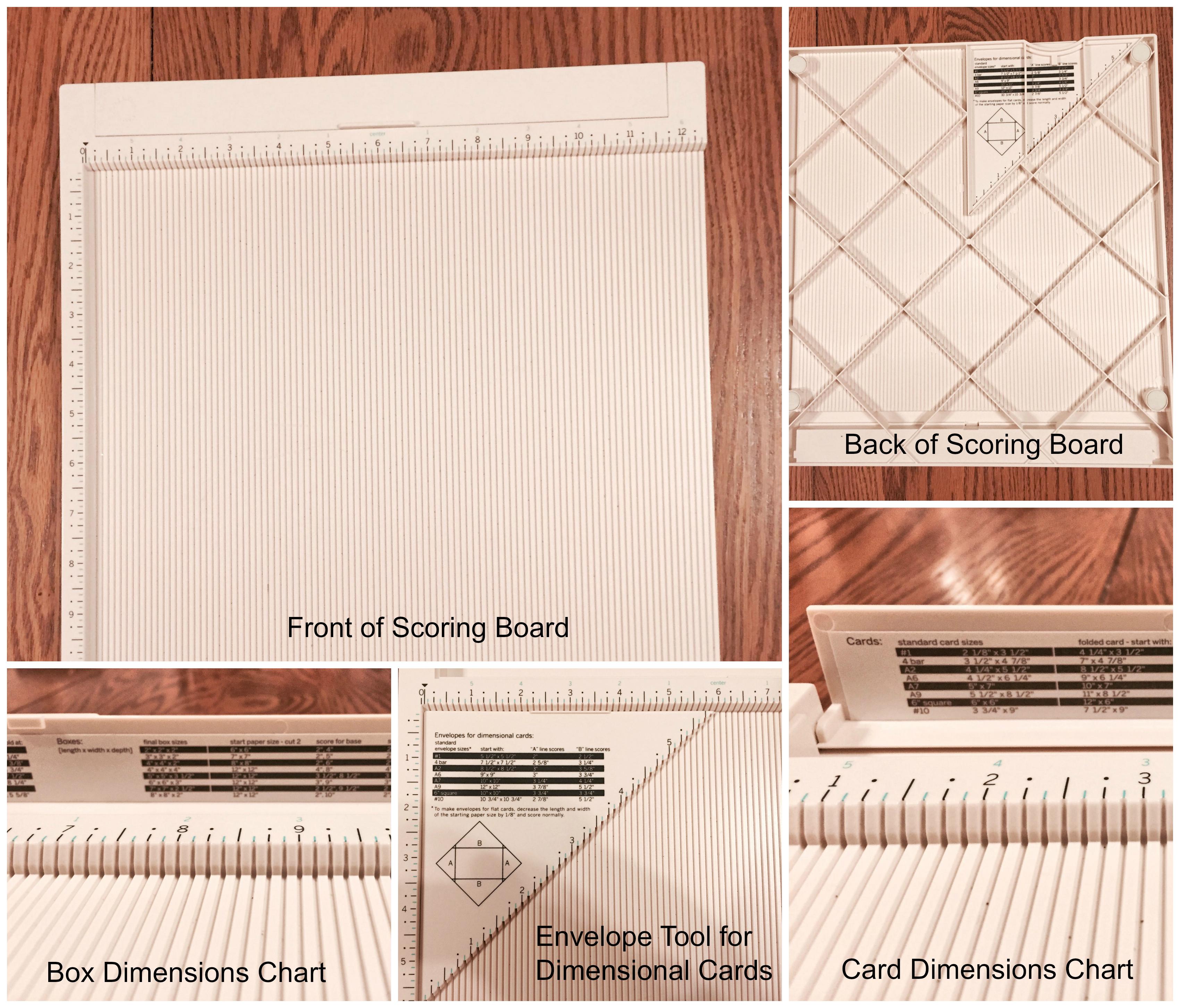 Martha Stewart Scoring Board Envelope Maker Bone Folder Paper Crafts Card Making