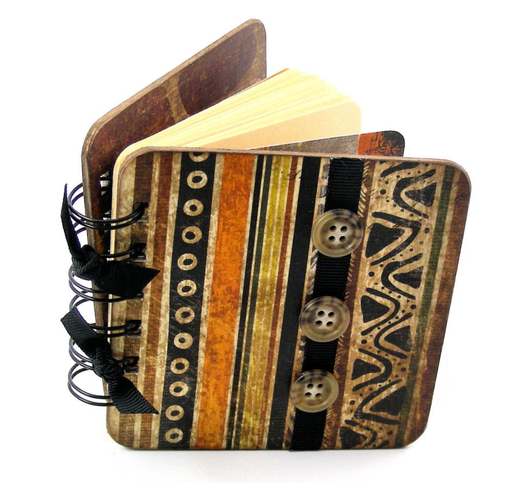 Safari Stripes Mini Blank Book