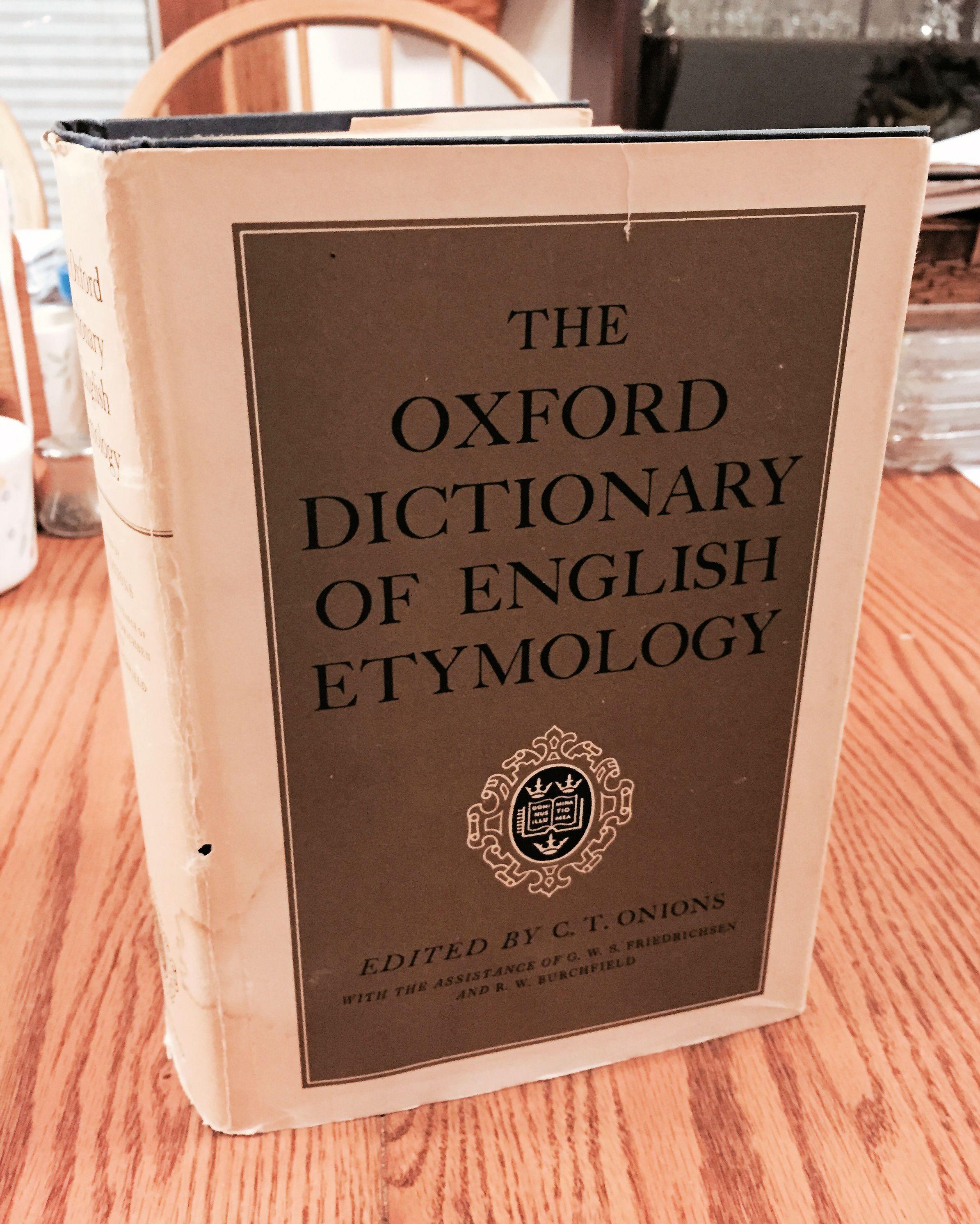 oxford dictionary of english etymology pdf