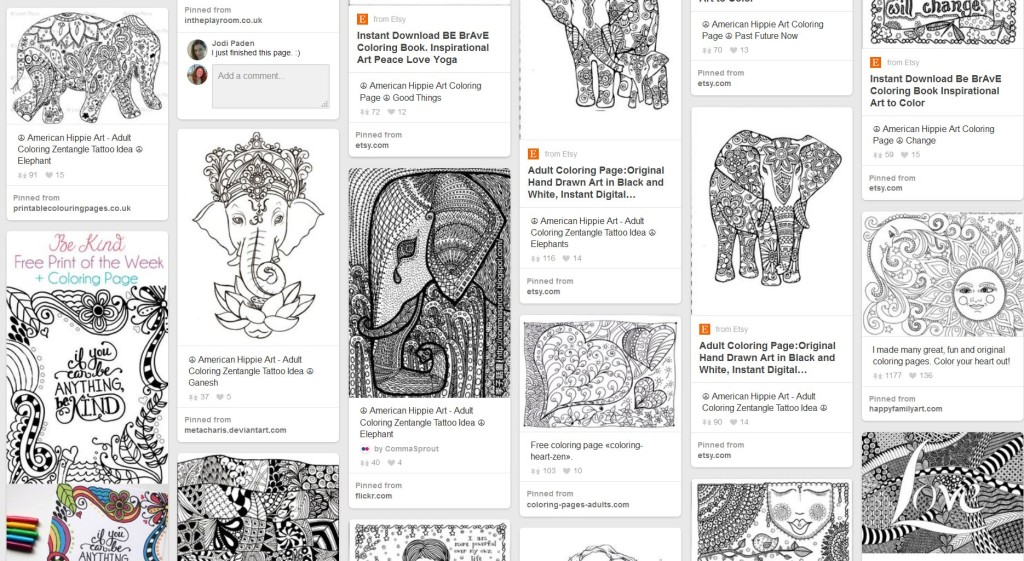 Screenshot of Pinterest printables