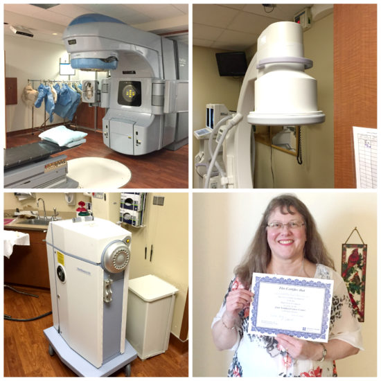 The equipment you see in this photo represents more than $215K of radiation treatments. Thank goodness for insurance!