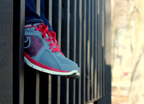 Red Gray Sneakers Jeans Through a Wooden Bridge - Fine Art Photo Print Home Wall Decor by Rose Clearfield on Etsy, https://www.etsy.com/listing/161239365/red-gray-sneakers-jeans-through-a-wooden